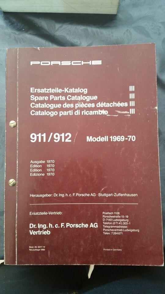 Andre reservedele, Bøger, Porsche 911 912