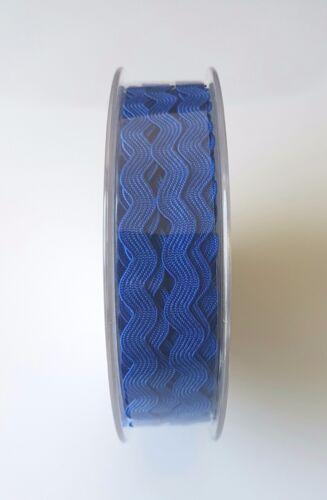 RIC RAC 6mm  Ribbon//Braid//Trimming 20 Metre Reel CHOICE OF COLOURS free P/&P
