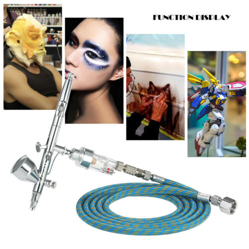KKmoon Dual Action Gravity Feed Airbrush 1,8m Schlauch 0,2 mm//0,3mm//0,5 m S3R6