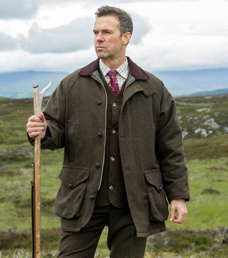 Hoggs of Fife Harewood 100% wool tweed coat, mens, various sizes.