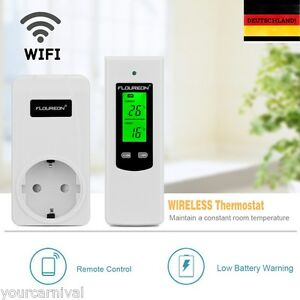 Wireless-LED-Steckdose-RF-Stecker-Thermostat-Temperaturregler-Schaltzeituhr-Neu