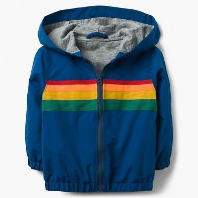 NWT Gymboree Boys Stripe Windbreaker Jacket Hooded Toddler many sizes
