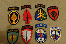 ARMY PATCH SET OF 8, US SPECIAL OPERATION COMMANDS,ASOC,CENT,EUR,KOR,AF,JFC,SOU