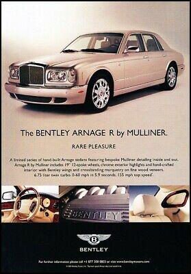 2004 Bentley Arnage R Mulliner Rare Pleasure Advertisement