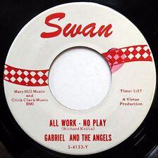 GABRIEL & ANGELS 45 All Work No Play  Peanut Butter Song VG++ Soul POPCORN e0613