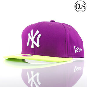 97aae06234b Details about Womens New Era 9FIFTY  Felt Visor  New York Yankees Purple Green  Snapback Cap