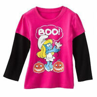 ☀the Smurfs☀ Girls Long Sleeve T-shirt Halloween You Pick 3t 4t