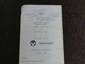 Darts World Champion Eric Bristow & Maureen Flowers Autographed Programme 1981