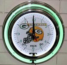 New 13 Inch Green Bay Packers Neon Wall Clock Garage Pub Bar Signs Home Decor