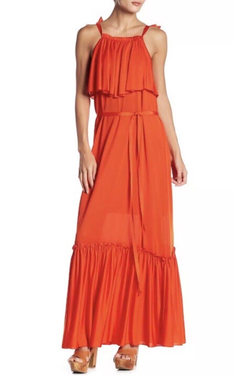 NWT  Free People Coco Tie Waist Maxi Dress - rot - Sz XS