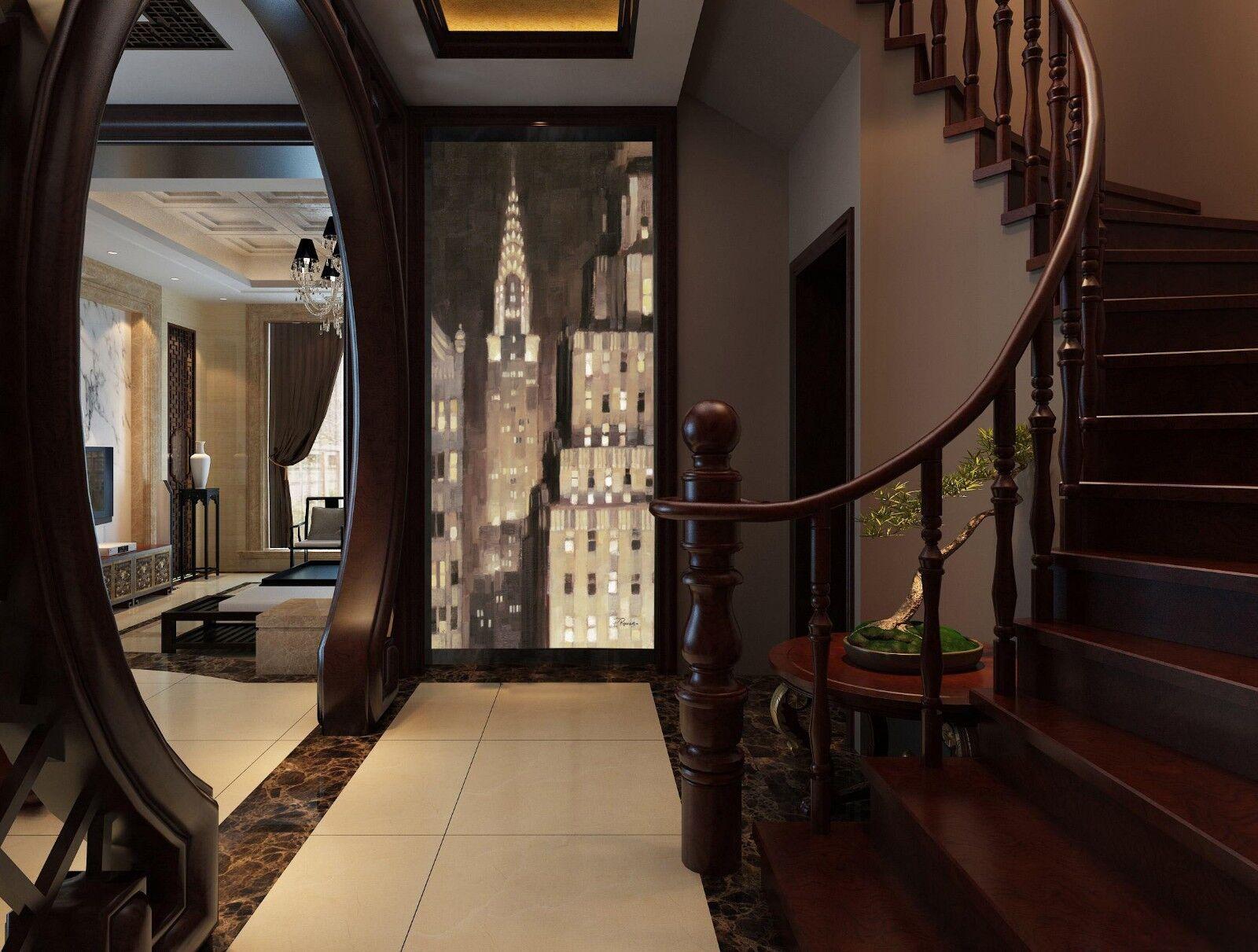 3D City Minaret Skyscrapers Paper Wall Print Wall Decal Wall Deco Indoor Murals
