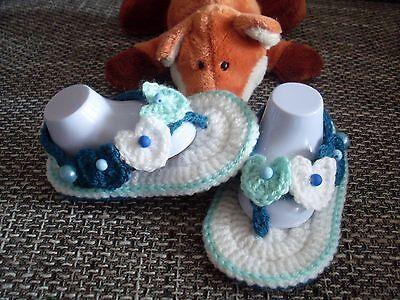 Babyschuhe Sandalen für kleine Prinzessin Handarbeit Fußlänge: ca. 12 cm
