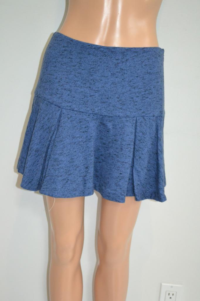 NWT Derek Lam 10 Crosby bluee Melange Cotton Ruffled Mini Skirt, Size 0  295