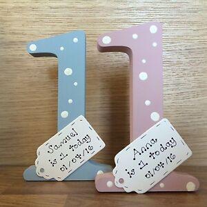 Personalizzata-1st-Compleanno-regalo-fatto-a-mano-in-legno-numero-1