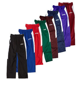 d5e6527a50795 Details about ASICS Junior Caldera Youth Athletic Warm Up Pants, Many Colors
