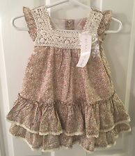 NWT Maggie & Zoe Baby Girl Floral Dress With Panties SZ 6-9 M