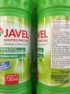 Lot-Revendeur-De-13-Bidons-De-Javel-Gouttes-Precise-Citron-Citron-Vert