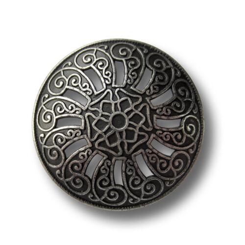 5457ae aus der Gründerzeit Metall Knöpfe w 3 traumhaft schöne alteisenfarb