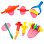 Party Pack Plastic Dough /& Clay Tools For Kids Play Set Different Shapes 24pcs