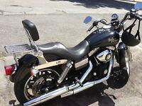 Detachable Backrest Sissy Bar For Dyna 06 Up Harley Davidson