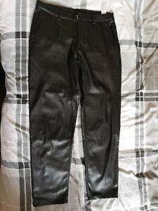 Men S Zara Faux Leather Trousers Ebay
