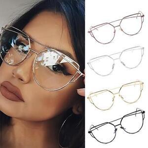 28f99b54911 Image is loading Sunglasses-Women-Cat-Eye-Glasses-Eyeglasses-Frame-Eyewear-