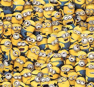 Despicable-Me-Yellow-Packed-Minions-Premium-100-cotton-Fabric-Remnant-29-034