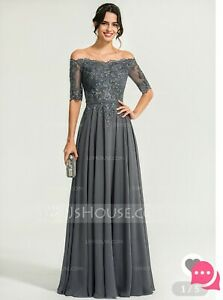 Details about Mother Of The Bride, Plus Size, Formal, Prom, Wedding,  Bridesmaid, Grey, Silver,