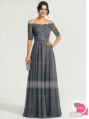 Mother Of The Bride, Plus Size, Formal, Prom, Wedding, Bridesmaid, Grey,  Silver, | eBay