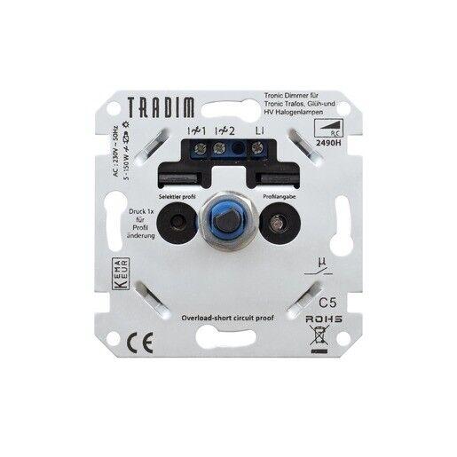 Dimmer-Einsatz 5-150W Tronic Dreh-Dimmer LED passend für Berker Gira Jung PEHA