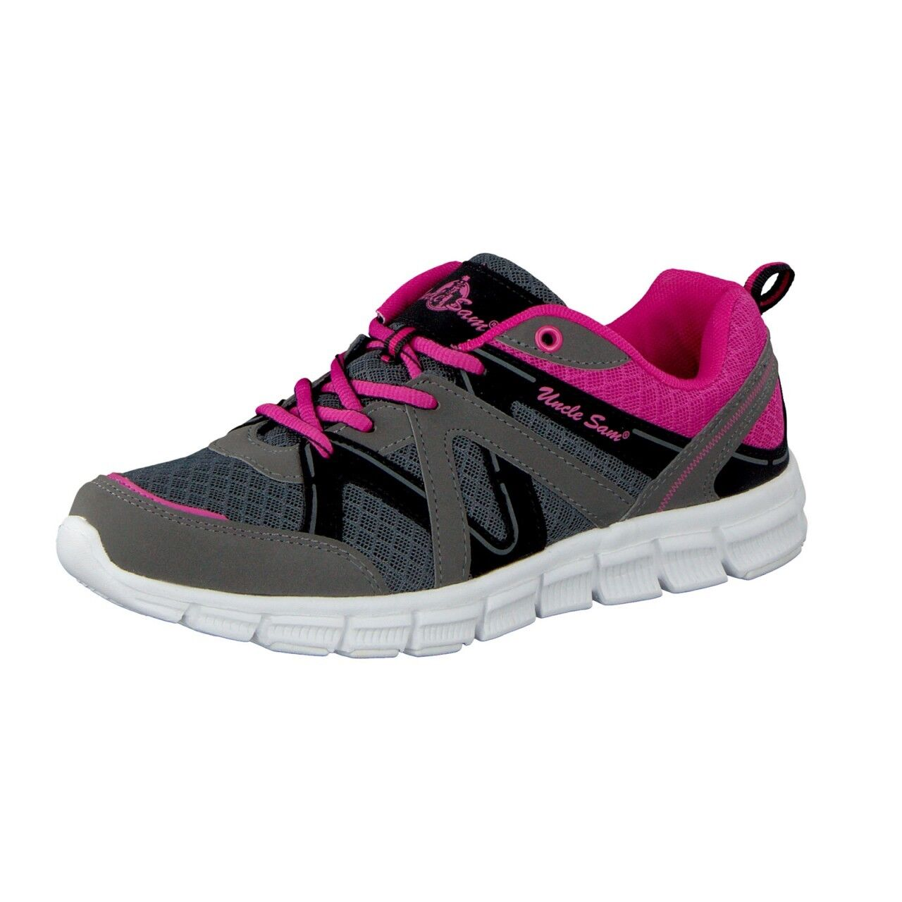 Uncle Sam Ladies Lightweight Running shoes in Grey Pink