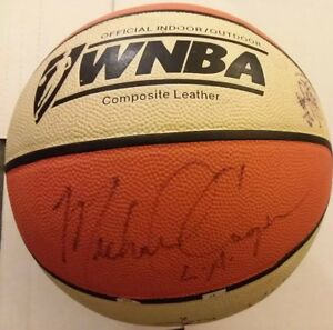 Los-Angeles-Sparks-team-signed-WNBA-basketball-Coach-Michael-Cooper-2000-039-s-fr-sh