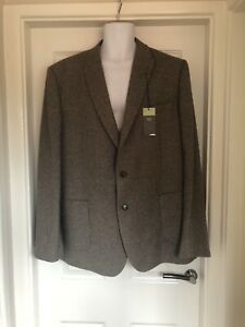 marks-and-spencer-Mens-Tweed-Style-Jacket-Blazer-Size-48-Long-Slim-Fit-NEW-M-amp-S