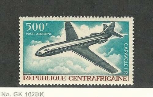 Central Africa, Postage Stamp, #C49 Mint NH, 1967 Airplane