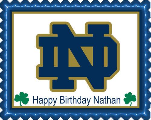 Decor Notre Dame Fighting Irish Edible Cake Topper OR Cupcake Topper