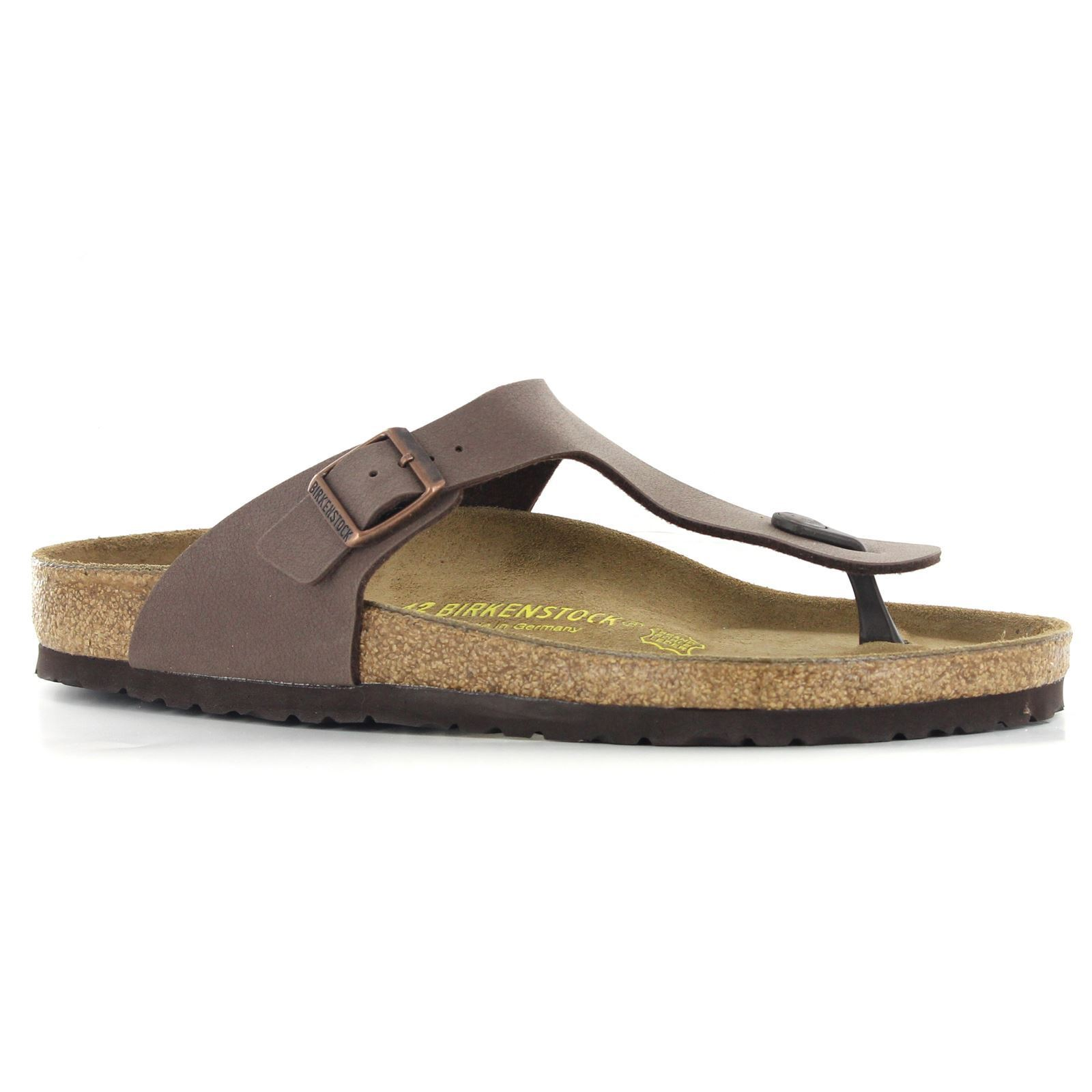 Birkenstock Gizeh Brown Birko-Flor Birko-Flor Brown Mens Sandals 83b002