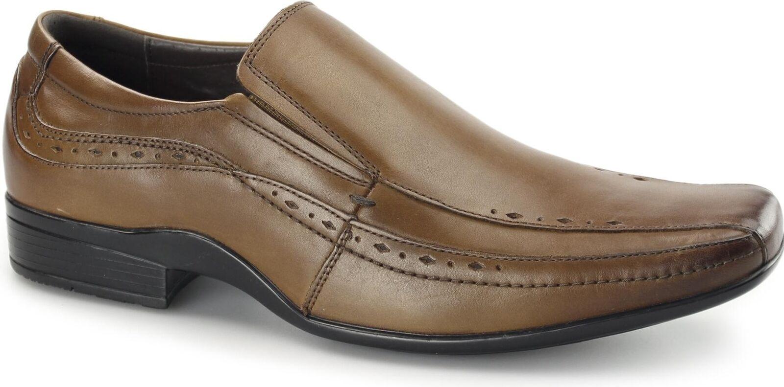 Frente Para Hombre de Cuero Inteligente Casual Oficina Zapatos Sealey Resbalón en Zapatos Oficina de comodidad amortiguada 0880c6