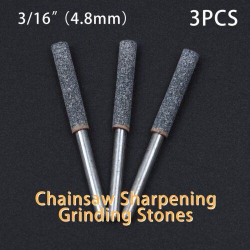 Grinding Stone Set Grindstone 4.8mm Chain Saw or metal polishing tool 3pcs 12V