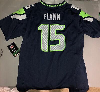 Nike OnField Seattle SEAHAWKS #15 Matt Flynn Blue Jersey, Youth SZ XL 18/20 NEW | eBay