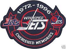 WINNIPEG JETS CHERISHED MEMORIES JERSEY PATCH 1972-1996 WHITE VERSION