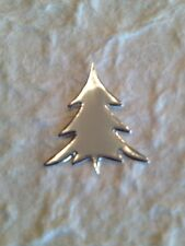 50 Trees tree Christmas pine fir silver shiny Diecut tiny paper Cards Holiday