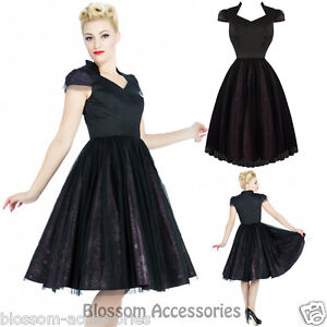 RKH88-Hearts-amp-Roses-Vintage-Prom-Party-Rockabilly-Evening-Dress-50s-Retro-Plus
