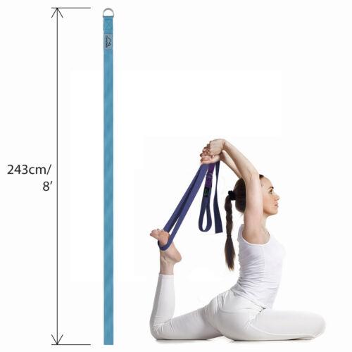 Correa Yoga D-Ring Estiramiento Cinturón Yoga Posiciones Alineación Flexibilidad