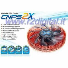 DISSIPATORE ZALMAN CNPS 2X CPU AMD INTEL PWM BASSO PROFILO 120W MINI ITX PC