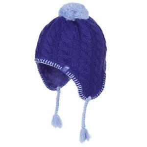 69ea3ed6e Details about The North Face Fuzzy Ear Flap Beanie Lined Hat Lapis / Blue  Youth Kids MED