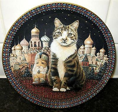 CATS AROUND THE WORLD Lesley Anne Ivory TWIGLET IN RUSSIA Danbury Mint Plate