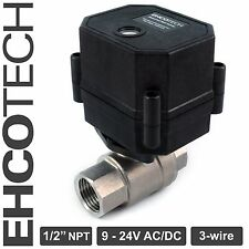 12 Npt Motorized Ball Valve 9 12v To 24v Ac Dc 3 Wire Stainless Steel Epdm