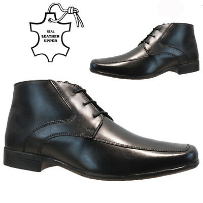 KöStlich Mens Leather Italian Casual Formal Chelsea Ankle Office Wedding Boots Shoes VerrüCkter Preis