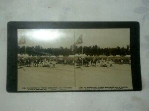 WW1-The-Rose-Stereograph-3D-Picture-Card-Review-of-Troops-Aust-Ex-Forces-No12908