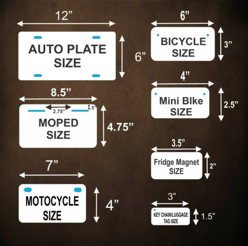 BLack Georgia License Plate Personalized Custom Car Auto Bike Motorcycle Moped